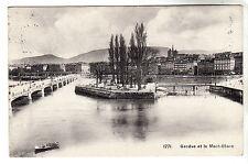 Geneve et le Mont Blanc - Photo Postcard 1911