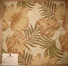 DURALEE HUGE LEAF TAPESTRY Upholstery Plant DESIGNER FABRIC SAMPLE beige
