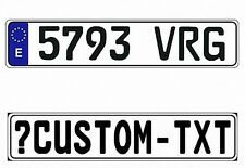 New Spain Spanish EEC European Front License Plate (Custom)