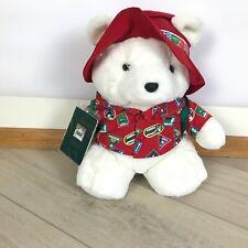 VTG Dayton Hudson Santa Bear 1993 North Pole Traveler with Passport and Backpack