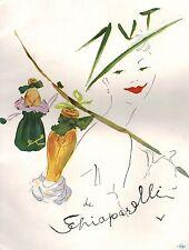▬► PUBLICITE ADVERTISING AD SCHIAPARELLI Parfum Perfume Marcel Vertès 1951