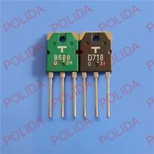 1pair or 2PCS Transistor TOSHIBA TO-3P 2SB688/2SD718 B688/D718