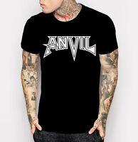 Anvil Logo T-shirt Heavy Metal Canadian Band Black with White Tee Shirt M - 3XL