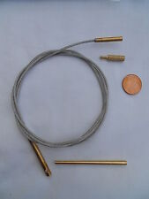 gun cleaning cable for rifles of .17ca and larger