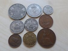 George VI Pre-Decimal Coin Set Collection Half Crown Shilling Penny Farthing