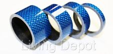 "4pc Bike Bicycle Full Carbon Headset Spacer 1-1/8"" 20 15 10 5mm -Blue"