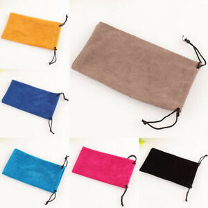 Glasses Sunglasses Pouch Case Drawstring Soft Wallet Phone Reading Spectacles