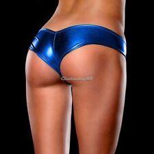 """LOOK"" METALLIC Shorts Pants Thong Dark Blue Magaluf Ibiza Club Buy Now UK STOCK"