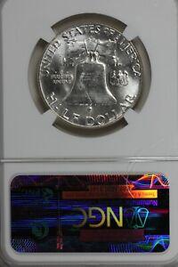 1963-D   50C NGC   MS64   .50, Benjamin Half, Bell Half Dollar
