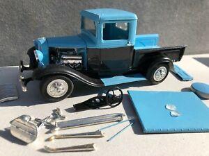 Vintage AMT 34 Ford Pickup Hot Rod Built Model Kit Parts
