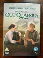 Out Of Africa DVD 1985 Film Classico W/Robert Redford + Meryl Streep