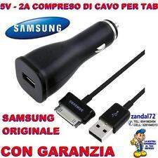 CARICABATTERIA DA AUTO + CAVO USB SAMSUNG GALAXY TAB 2 7 10.1 P6800 N8000 P5110
