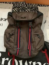 Auth Gucci Black Medium Techno Canvas Backpack Made In Italy Org $1380