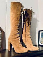 Etro, Damen Stiefel, Gr.36, Braun, Wildleder, Luxus,  Top 👌