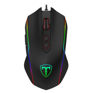 T-Dagger Full RGB Colour LED Wired Optical USB Gaming PC Mouse Computer Laptop
