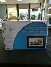 Digital Changing Pictures Frame Omnitech Black 7in Screen