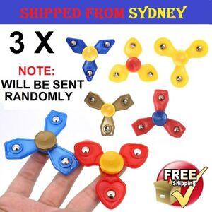 3 Pcs Fidget Hand Plastic Finger Spinner EDC Focus Stress Reliever Toy For Kids