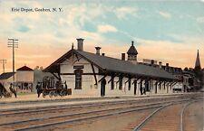 c.1910 Erie RR Depot Goshen NY post card Orange county
