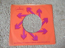 sleeve only MERCURY  ORANGE    45 record company sleeve only    45