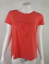 Elegance Industrial CO Womens Size Medium Coral Pink Short Sleeve Blouse NWOT