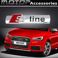 Red S-line Logo 3D Metal S LINE Racing Front Hood Grille Badge Emblem