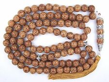 10mm x 99 PALMWOOD PRAYER BEADS ISLAMIC TASBIH MASBAHA QURAN GIFT