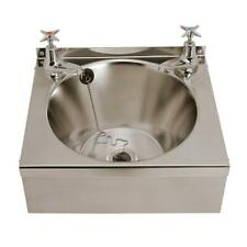 Franke Wall Mounted Wash Basin + 2 Taps 1 Bowl 340x345mm Commercial Kitchen Sink