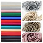 Silver Grey Beige Khaki Taupe Cinnnamon Pink Silk Satin Charmeus Fabric / Meter