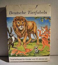 """02 179 DDR Quartettspiel """"Deutsche Tierfabeln"""""""