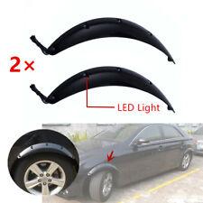 2X Flare Arches Black Car Wheel Eyebrow Fender Strip LED Light 58CM Protector