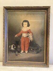 Don Manuel Osorio de Zuniga Francisco de Goya Child Framed Painting