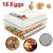 16 Egg Hatcher Hatch Machine Digital Mini Automatic Eggs Incubators with Turner