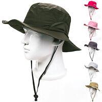 9b31de814d7 Boonie Bucket Hats Cap Cotton Fishing Hiking Hunting Safari Mens Outdoor  Sun Hat