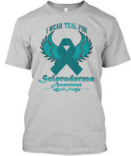 I Wear Teal Hanes Tagless Tee T-Shirt Pcos Awareness For Me