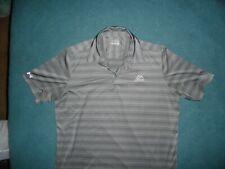Mens Under Armour Grey Striped Polo Golf Shirt loose Fit heat gear Xxl