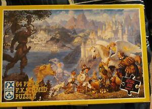 FANTASY DRAGON 64 Piece Jigsaw Puzzle RARE Land of Enchantment 92 FX Schmidt