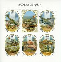 Guinea-Bissau Military Stamps 2020 MNH WWII WW2 Battle of Kursk Tanks 5v M/S