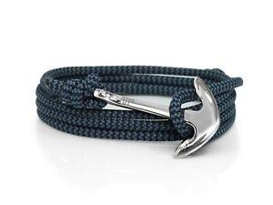 Storm & Silver Anchor Bracelet Mens & Womens Paracord Rope Nautical