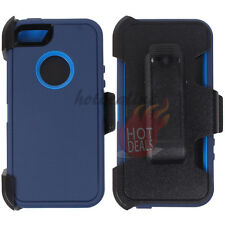 For Apple iPhone 5/5s Blue Case Cover (Belt Clip Fits OtterBox Defender)