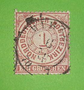 Schöne alte Briefmarke aus NDP/Altdeutschland