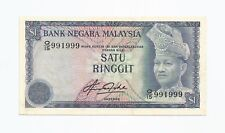 """MALAYSIA  RM1  4th Series  ALMOST SOLID #9's  Q15_991999  """"GEF"""""""