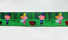 Ben and Holly ribbon in green 25mm (1 meter ) for cakes, crafts & bows