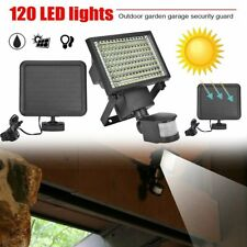 120 LED Ultra Bright Solar Light Motion Detection Sensor Security Garden Flood