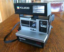 Vintage Polaroid Sun 600 LMS Land Film Camera Photos Strap Instant Flash Picture