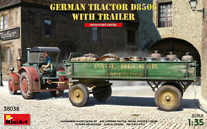 Miniart 1/35 German Tractor D8506 with Trailer # 38038