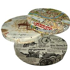 "2""Thick-Round Box Shape Cover*A-Grade Cotton Canvas Chair Seat Cushion Case*LL2"