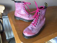 Vintage Dr Martens 1460 Pink Pascal boots UK 3 EU 36 kawaii punk skin England