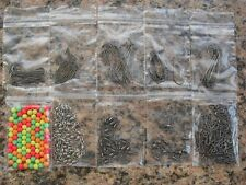 Sea Fishing Tackle Set-  Makes up to 100+ Rigs  Swivels Beads Bait Clips Hooks