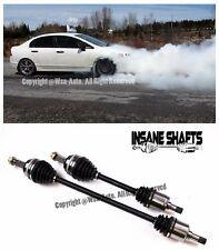 Insane Shafts Axles For 06-10 Honda Civic 1.8L M.T. Only FD1 FA1 FG2 FK FN 500HP