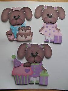 3D-U Pick - BD3 Birthday Party Puppy Dog Kitten Cat Scrapbook Card Embellishment